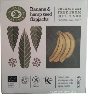 Doves Farm Organic Gluten Free Banana and hemp Flapjacks