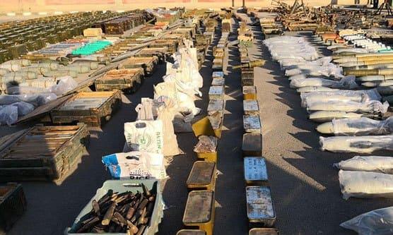بالفيديو العثور على أسلحة وآليات من مخلفات الإرهابيين بعضها إسرائيلي بريفي درعا والقنيطرة