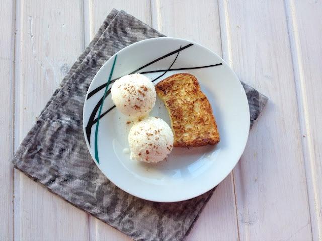 Torrijas con helado de leche merengada - No sin mi taper