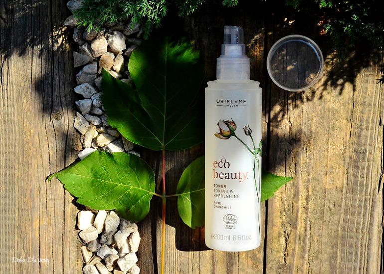 Naturalna pielęgnacja twarzy EcoBeauty Oriflame - tonik, serum i olejek recenzja