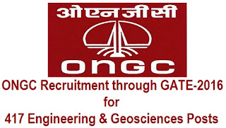 ONGC Recruitment 2016