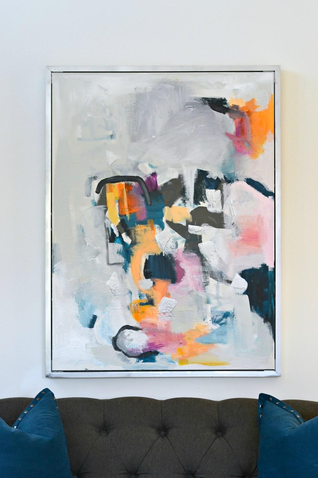 livelovediy diy abstract wall art