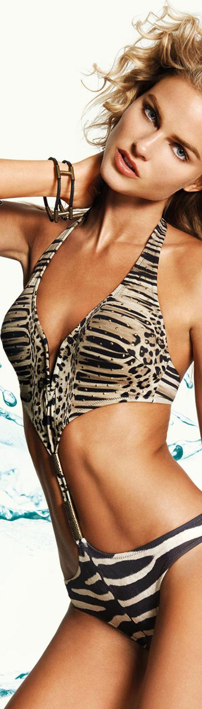 Zeki Animal Print Monokini