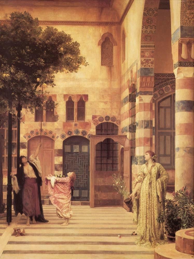 Antigo Bairro de Damasco - Lord Frederick, o mais famoso artista britânico do século XlX