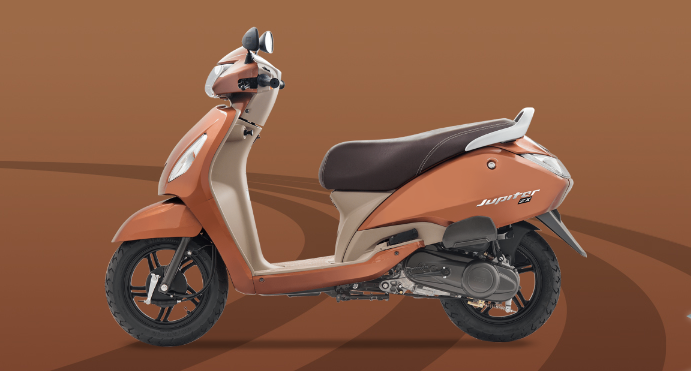 TVS Jupiter Brown Color