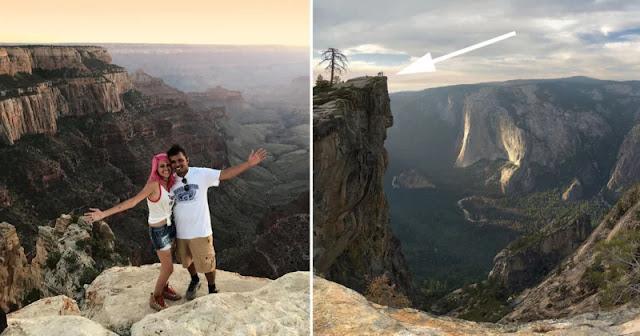 Coppia cade da una scogliera dello Yosemite per imitare uno scatto virale