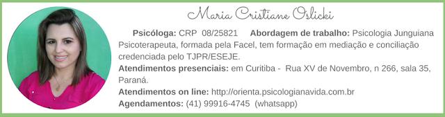 Psicóloga Maria Cristiane Oslicki