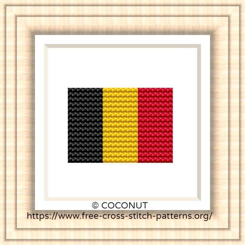 NATIONAL FLAG OF BELGIUM CROSS STITCH CHART