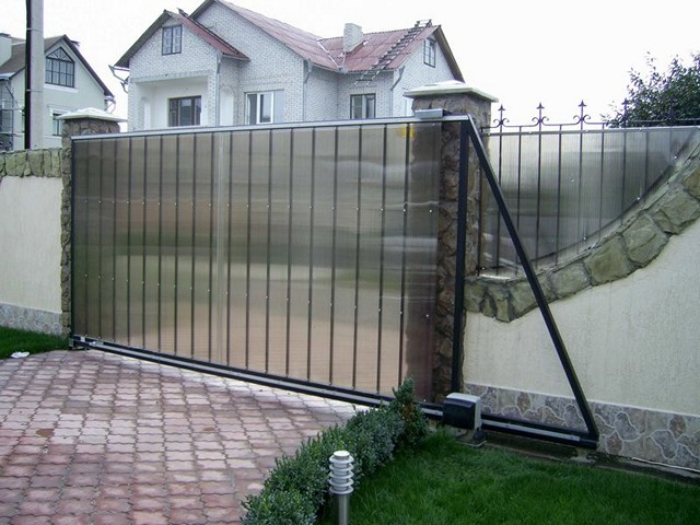 Конструкция откатных ворот схемы
