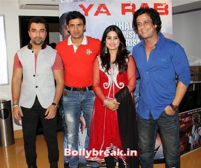 Ajaz Khan, Sangram Singh and Arjumann Mughal, Ajaz Khan and Arjumann Mughal at 'Ya Rab' Movie Special Screening