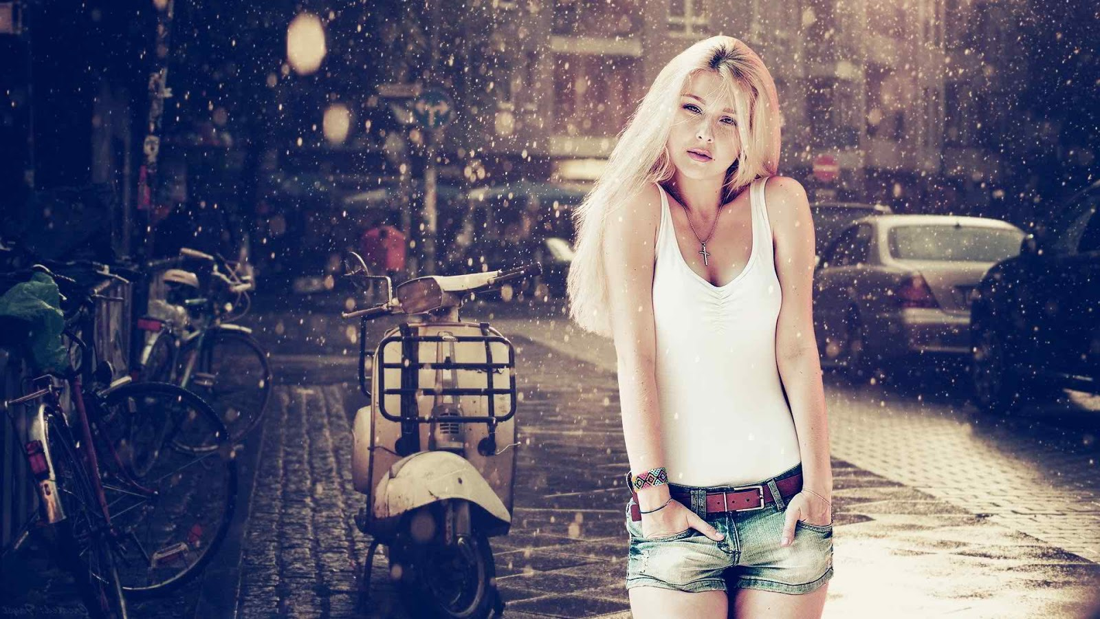 white girl dancing on rain whatsapp profile pictures