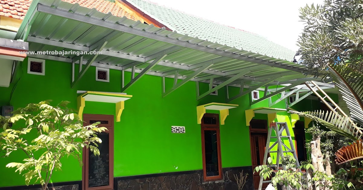 Canopy Baja Ringan Tanpa Tiang Kanopi Rangka Box Metro Truss Aluminium
