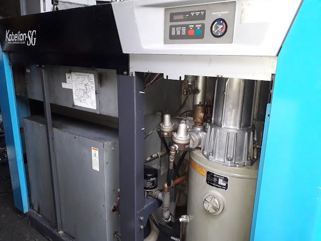 bán máy nén khí trục vít cũ kobelco 75 kw