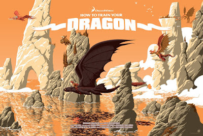 How To Train Your Dragon Movie Poster Variant Screen Print by Florey x Mad Duck Posters.jpg