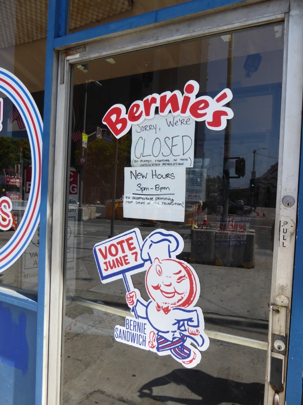 Bernie Sanders Coffee Shop front door