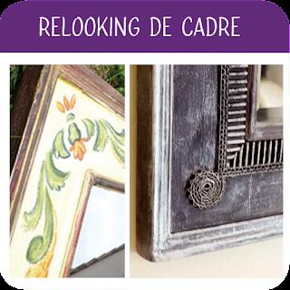Relookin de cadre avec motifs en carton par Laura Dambre atelier Cartons Dudulle