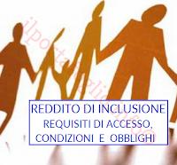 requisiti di accesso al reddito di inclusione e obblighi da rispettare