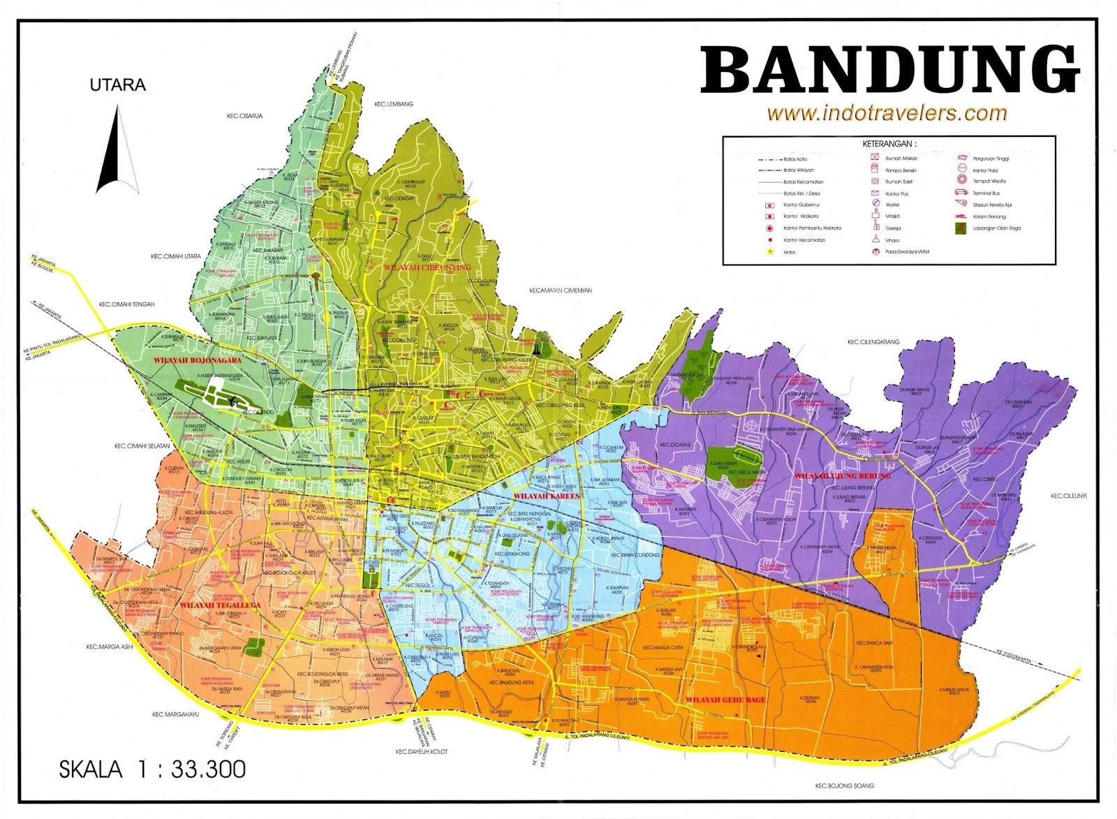 Batas Wilayah Kecamatan, Kelurahan Dan Kode Pos Di Kota ...