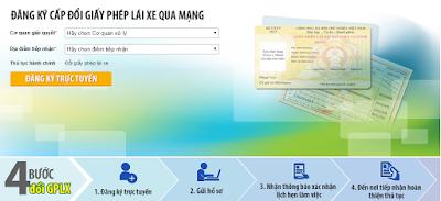 Đổi Giấy Phép Lái Xe Thẻ PET Qua Mạng tại Thành phố Hồ Chí Minh