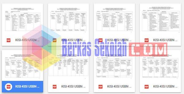 Kisi-Kisi USBN SMK 2018 Kurikulum 2013