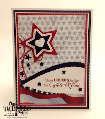 Our Daily Bread Designs Stamp Set: Let Freedom Ring, Paper Collection: Stars and Stripes, Custom Dies: Sparkling Stars, Double Stitched Stars, Mini Stitched Hearts, Leafy Edged Borders, Pierced Rectangles, Double Stitched Rectangles