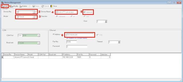 Setting software mesin absensi spc