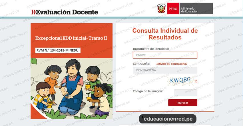 MINEDU: Resultado Final Desempeño Docente EDD Inicial - Tramo II - Evalación Excepcional (3 Enero) www.minedu.gob.pe