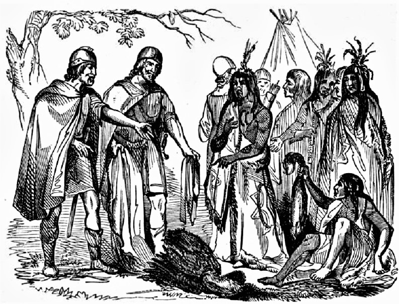 native americans norse invaders native americans Native Americans On Immigration norsemen trading with native americans