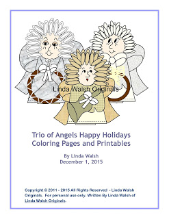 Trio Of Angels Free Coloring Pages E-Book