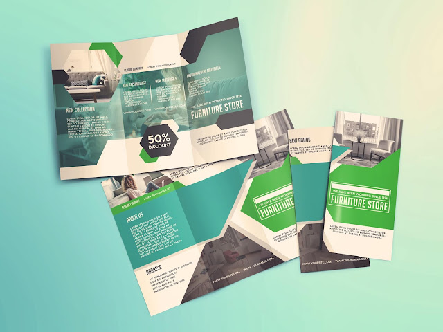Free Furniture Store Tri-Fold Brochure Template - PSD File