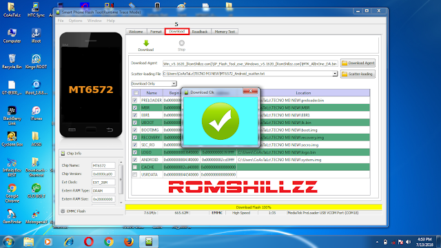 How To Flash MTK Android Phones with SP Flash Tool 5
