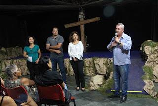"""Oficina de Teatro do CCMI encantou o público com a encenação da """"Paixão de Cristo"""""""