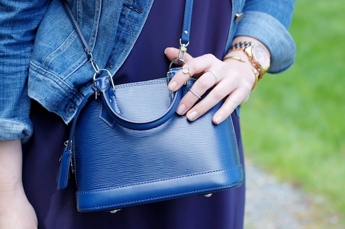 Louis Vuttion BB Alma bag by Vancouver blogger Covet and Acquire.