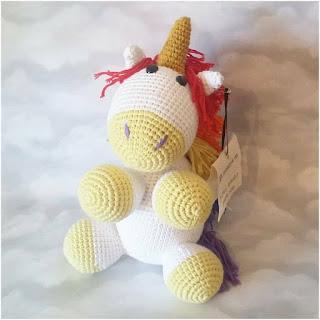 amigurumi unicornio mini monoceros