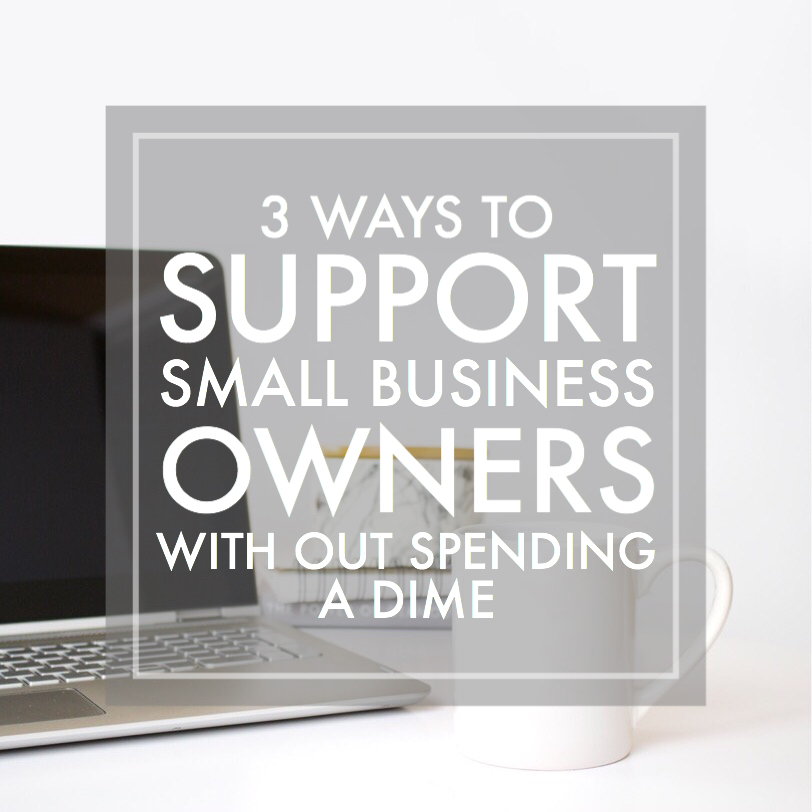 support small business with out spending a dime