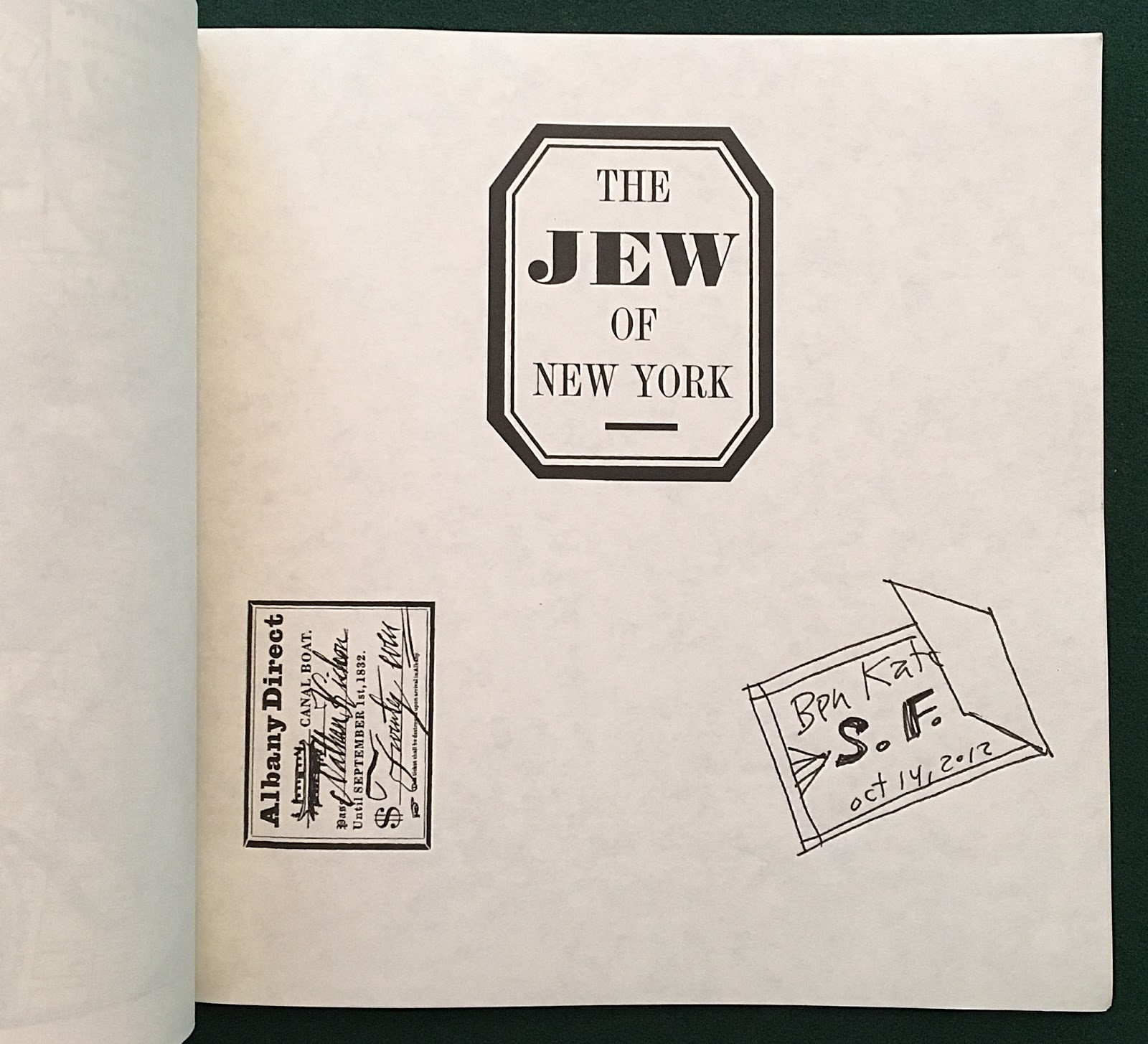 The jew of new york array attempted bloggery the jew of new york signed by ben katchor rh attemptedbloggery blogspot fandeluxe Image collections