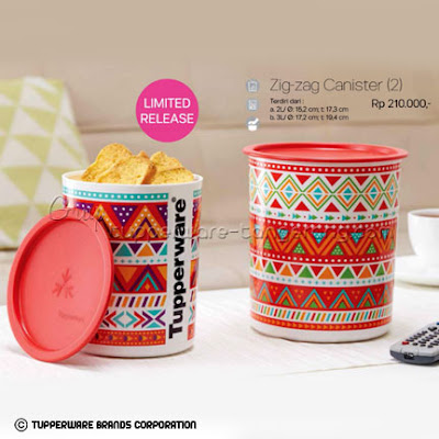 Zig-Zag Canister ~ Katalog Tupperware Promo Mei 2016