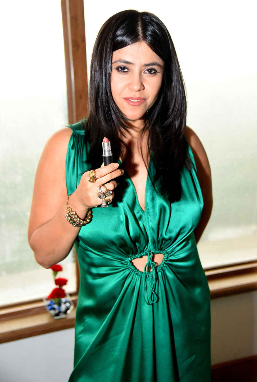 Ekta Kapoor During The Promotion of Movie Lipstick Under My Burkha