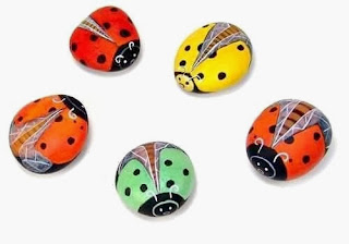 Cara Membuat Kerajinan Tangan Dari Barang Bekas, Kumbang Batu Lukis 8