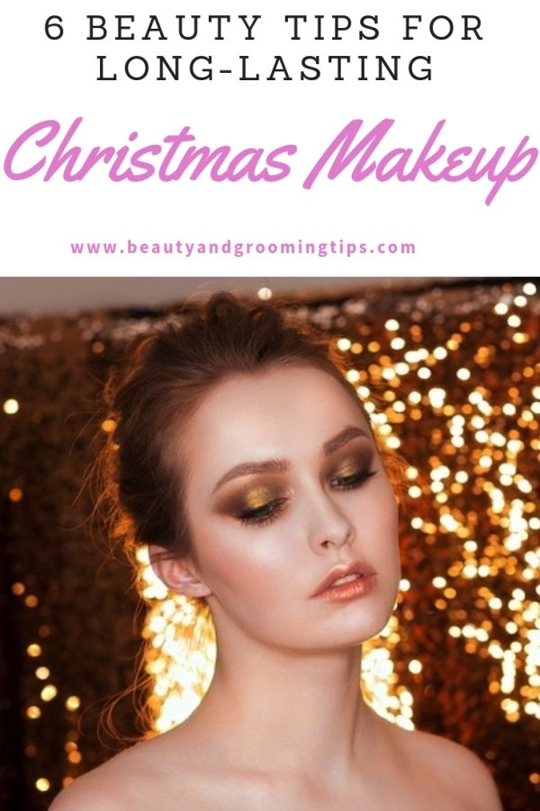 woman looking glamorous & beautiful at a christmas party with the right makeup