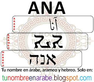 Nombre de Ana en Hebreo para Tatuajes