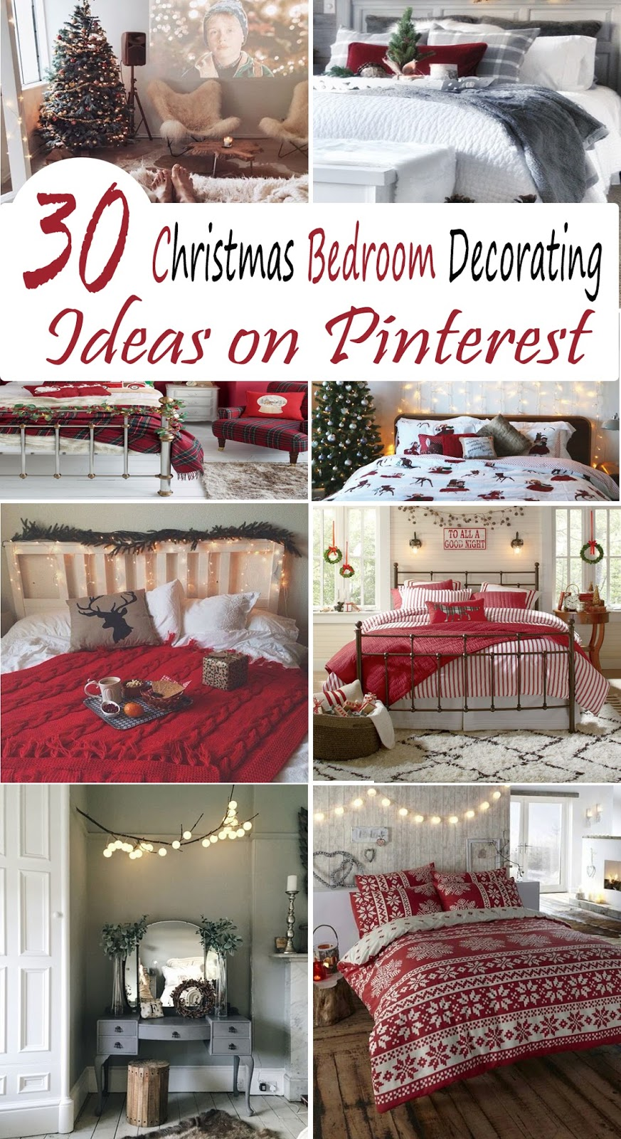 christmas stuff 30 christmas bedroom decorating ideas on