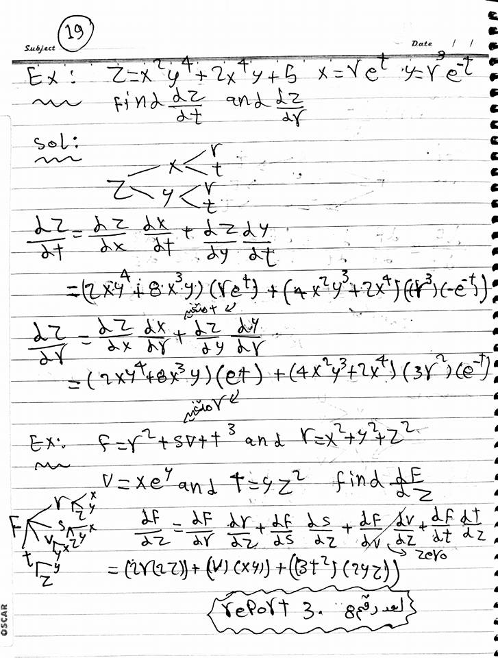 problems in partial derivatives and chain rule