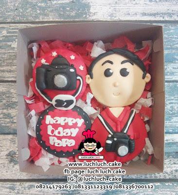 Cupcake 2d Untuk Cowok Tema Kamera Fotografer