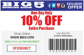 picture about Big 5 Sporting Goods Printable Coupon known as Large 5 Donning Solutions Printable Discount codes July 2017 - Price cut