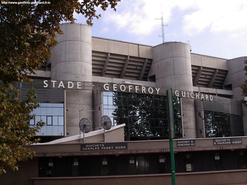 Stadion Stade Geoffroy-Guichard Saint-Étienne Perancis