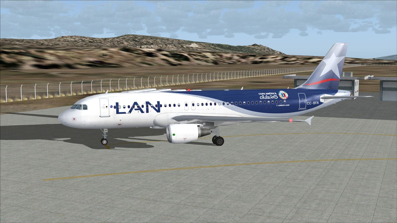 Fs2004 Repaints Project Airbus A320 200 Lan Airlines Cc
