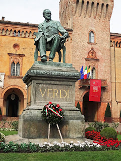 The statue of Verdi can be found in his home town of Busetto in Emilia-Romagna