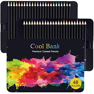 Cool Bank Colored Pen Set - 48 Artistic Pencils