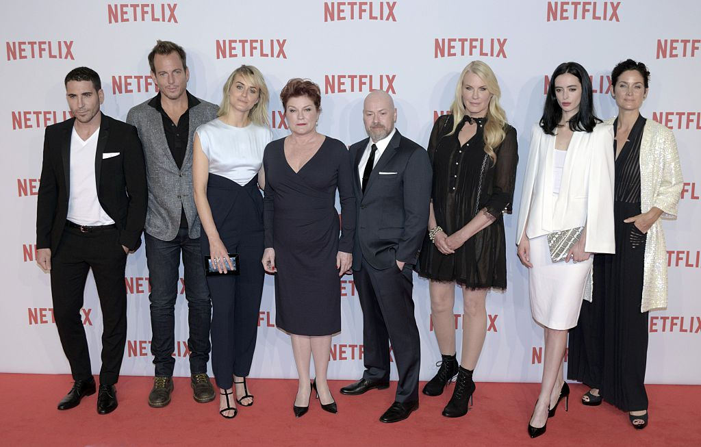 Miguel Angel Silvestre, Will Arnet, Ted Sarandos, Taylor Schilling, Reed Hastings, Kate Mulgrew, Steven S. DeKnight, Daryl Hannah, Krysten Ritter and Carrie-Anne Moss